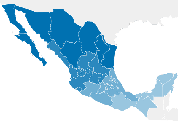 mapa zonas oficinas min
